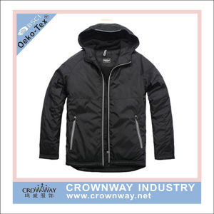 Men Hot Sale Hooded Winter Padded Jacket with Contrast Zip pictures & photos