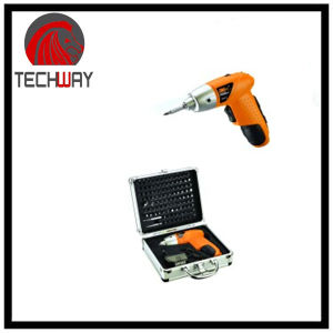 Cordless Screwdriver with 104PCS Aluminum Box Packing pictures & photos