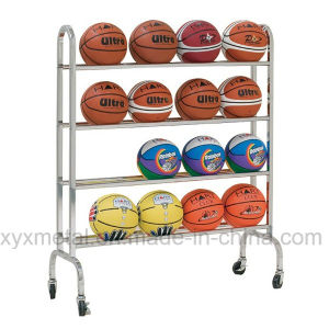 Movable Portable Basketall Football Roll Ball Hand Carts Rack pictures & photos