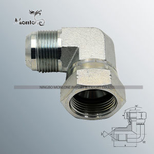 NPT Male Solid and Swivel Reusable Hydraulic Hose Fittings pictures & photos
