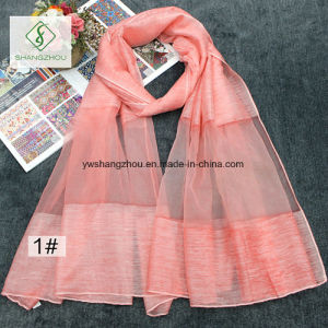 2017 New Design Tie-Dyed All-Match Fashion Organza Lady Silk Scarf pictures & photos
