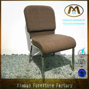 2016 Factory Direct Sale Stacking Metal Chrome Frame Design Church Chair