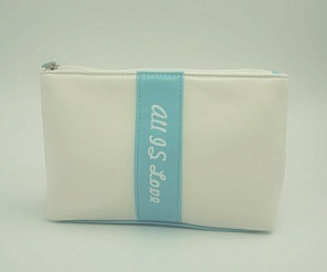 Blue and White Colors Flat Shape Pouch