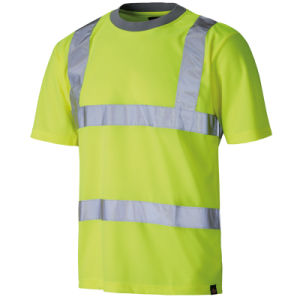 Reflective Strip High Visibility Safety Polo T-Shirt of 100% Cotton pictures & photos