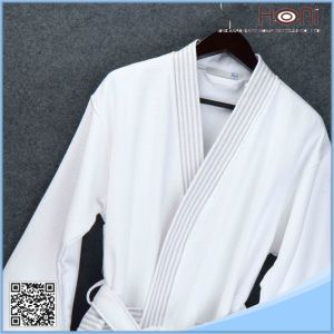 Bulk White 100% Cotton Bathrobe