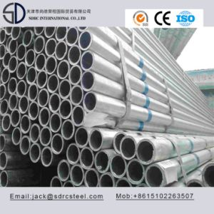 High Frequency Welded Hot Dipped Galvanized Round Steel Pipe pictures & photos
