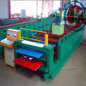 latest Double Layer Ibr Aluminum Metal Panel Roof Stepping Machine pictures & photos