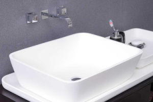 Modern Bathroom Furniture Mould Stone Cast Solid Surface Wall-Hung Basin pictures & photos