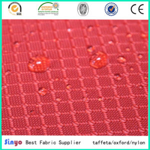PU Coated 100% Polyester 400d Grid Backpack Fabric pictures & photos