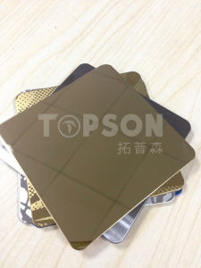 201 304 316 Steel Product Stainless Steel Sheet with 8k Mirror Colored for Decoration