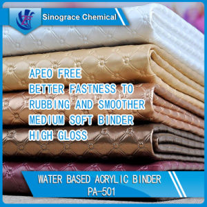 Water Based Acrylic Binder for High Gloss Leather Skin pictures & photos