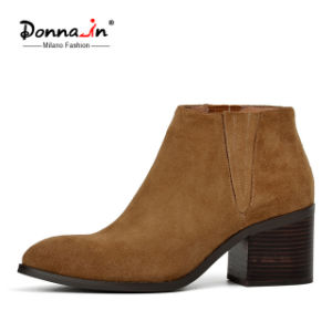 Lady Casual Pointed-Toe Shoes High Heels Women Suede Leather Boots