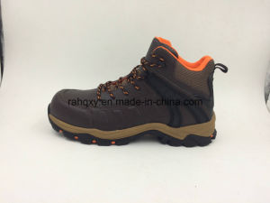 Split Genuine Leather MID-Cut Outdoor Safety Shoes (16051) pictures & photos