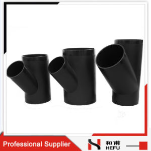 Water Pipe 3 Way Tee PE100 Plastic Drain Plumbing Fitting pictures & photos