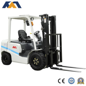 4ton Diesel Manual Hydraulic Telescopic Forklift with Solid Forklift Tire
