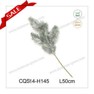 Christmas Outdoor Decoration Plastic Needle Pine Branches with Flowers H35-110cm