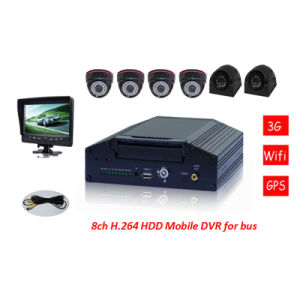 8CH Mobile Car DVR with 3G, GPS, WiFi, G-Sensor (Optional) pictures & photos
