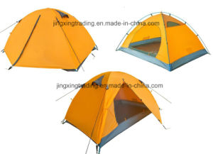 2 Persons Hot Waterproof Polyester Camp Tent (JX-CT025-1) pictures & photos