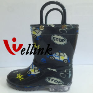Kids Fashion Style Colorful Rubber Rainboots
