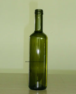500ml Round Green Color Glass Oil Bottle pictures & photos