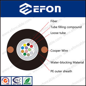 Strength Member Copper Wire Fiber Optic Cable (GYXTY&COPPER) pictures & photos