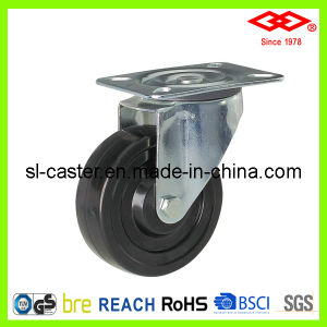 100mm Swivel Plate Hard Rubber Castor (P102-53B100X32) pictures & photos