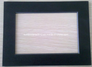 Pre Cut Mat Board, Picture Frame Mat, Black Surface with Black Core