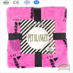 Super Cute & Super Warm Printed Pet Blanket for Dogs and Cats Can Customized pictures & photos
