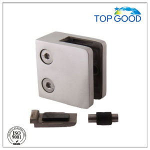 Stainless Steel Square Glass Clamp with Plate