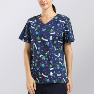 Latest Design Scrub Sets Printed Scrub Nurse Uniform pictures & photos
