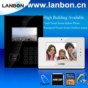 TCP/IP 7′′ Video Door Intercom System for High Building