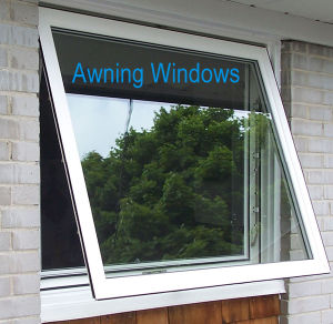 Aluminum Frame Glass Awning And Swing Windows