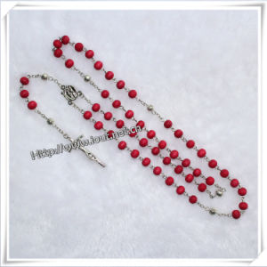 Scented Rose Wooden Bead Catholic Rosary with Crucifix (IO-cr022) pictures & photos