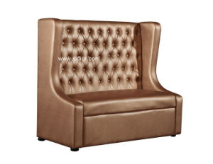(SD-4009) Modern Chesterfield Wooden Leather Sofa Furniture for Restaurant Cafe