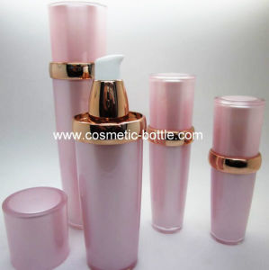Acrylic Treatment Pump Bottle with Gold Ring (FA-03-B30)
