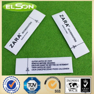 White Fabric Anti Theft Security Sourcing Clothing Label (AJ-la-05) pictures & photos
