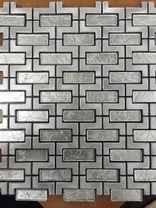 Aluminum Plastic Mosaic Floor Tiles for Sale