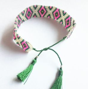 High Quality Beaded Bracelet with Tassel Ends pictures & photos