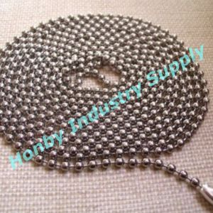 3.2mm Stainless Steel Silver Bead Chain with Connector