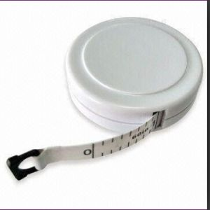 Promotional Gift Round Shaped Tape Measure With White Color (RF61171)