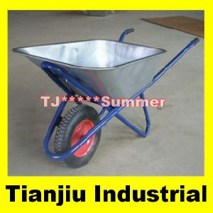 Russia Building Wheelbarrow Wb6418 with Zinc-Plated Tray pictures & photos