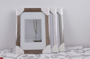 MDF Picture Frame with Wooden Grain Paper Wrape pictures & photos