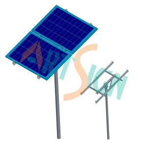 Single Pole Ground Bracketing System for Stand Alone Solar Power System pictures & photos
