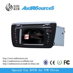 Wholsesale Car DVD Player for Vw Seat Ibiza with 1.2g CPU Support GPS, DVD, Raido, Bt, SD, USB, 5c, 5s, 1080P Video Function