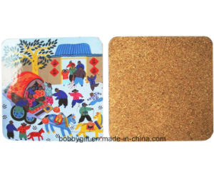 High Quality Square Cup Pad Cork Coaster pictures & photos