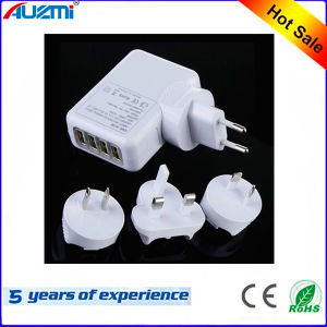 4 USB Port USB Charger for Mobile Phone and Tablet