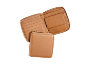 Custom Made Wallets, Men′s Genuine Leather Wallet, Brown Color Leather Wallet