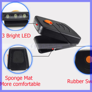 Mini 3LED Infrared Sensor Headlight USB Rechargeable Headlamp Cap Lamp Light pictures & photos
