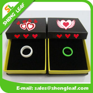 Personalized Fashion Advertising Colorful Silicone Finger Rings (SLF-SR009)