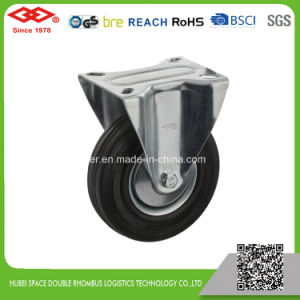 200mm Swivel Plate Black Rubber European Type Caster Wheel (P102-11D200X50) pictures & photos